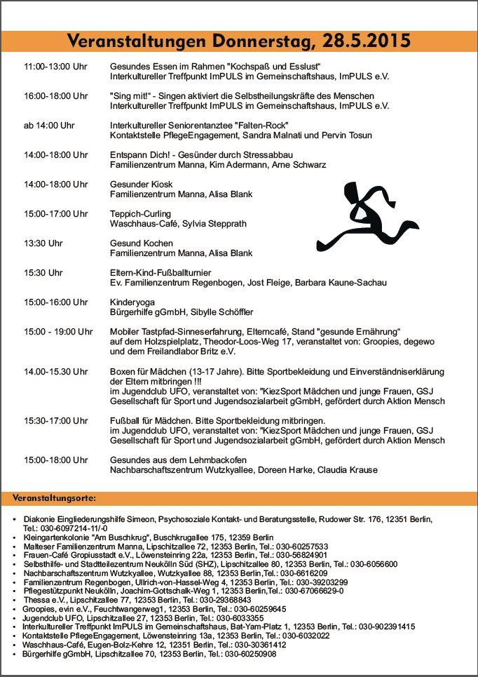 Tag der Gesundheit 27. + 28.05.2015 Seite 2