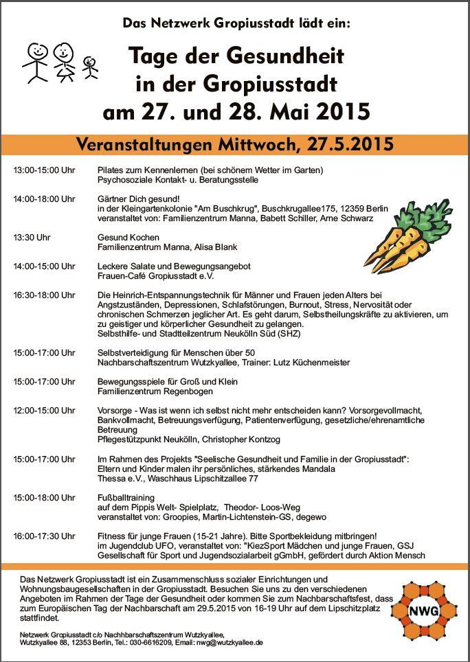 Tag der Gesundheit 27. + 28.05.2015